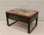 Vintage Industrial Step Stool / Industrial Stool / Cast Iron