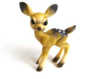 Rubber Deer Figurine, Vintage Fawn Deer, Japan Toy Animal