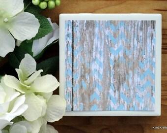 Coasters for Drinks - Drink Coasters - Rustic Coasters - Ceramic Coasters - New Home Gift - Coaster Set - Handmade Coasters - Blue Coasters