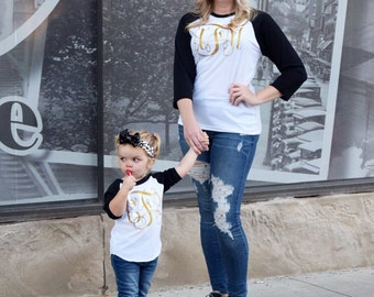Mommy and Me Monogram, Mommy and Me Girls Shirts, Mom and Me Monogram Tee, Matching Mom and Baby Shirts, Mommy and Me Set, Matching Monogram