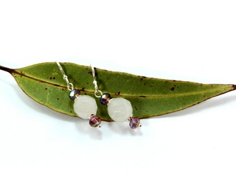 Rose Quartz Earrings, Sterling Silver Earrings, Rose Quartz Dangle Earrings, Silver Earrings, Sterling Silver, Boho Earrings, Pink Crystal