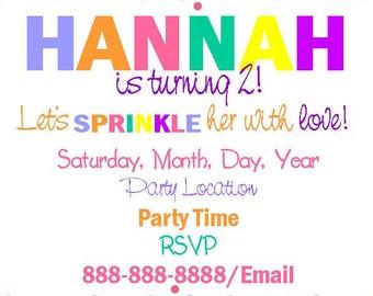 Sprinkle Invitation