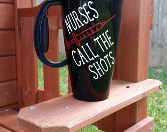 Medical Mug, Nursing Travel Mug, Medical Travel Mug ,Insulated Travel Mug with Lid and Handle, Personalized Travel Mug