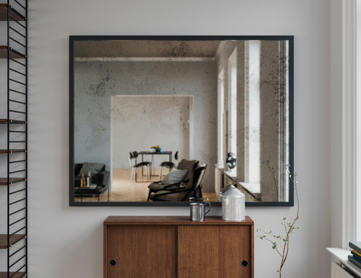 Framed Wall Mirror Made With Mirror Coop Antiqued Mirror