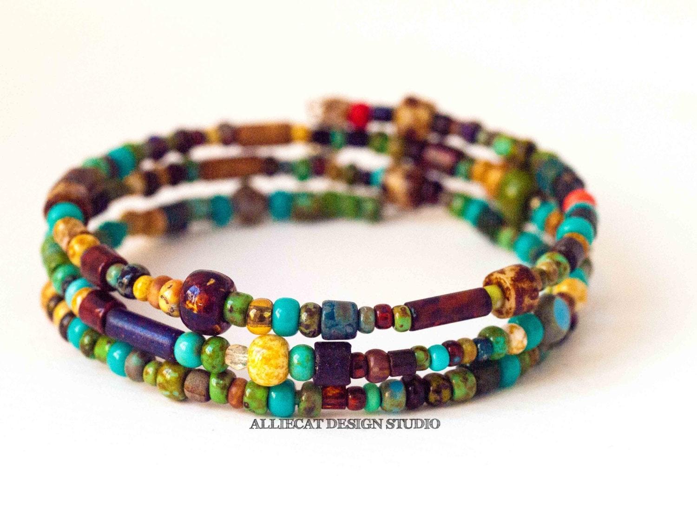 Beaded Bracelet Handmade Bracelet Boho Bracelet Bohemian