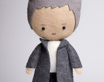 Greg Lestrade - poseable plush from Sherlock - handmade doll