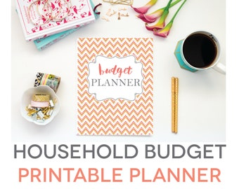 Budget Planner Printable, Aztec Design, Monthly Household Budget Form, Financial Planning Set, Family Money Tracker, Digital, Fillable PDF