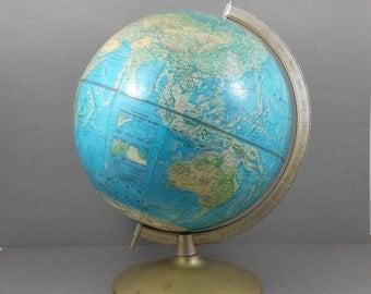 "Rand McNally World Portrait Globe, Vintage 1970s 12"" Globe"