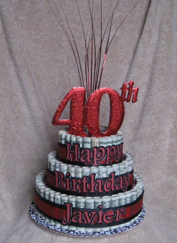 Items Similar To Money Cake Extra Large Quot 40th Birthday A