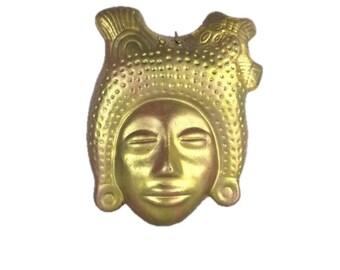 Mexican Mask - Folk Art Terracotta Mexican Mask