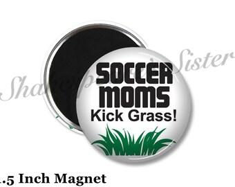 Soccer Mom - Fridge Magnet - Funny Magnet - 1.5 Inch Magnet - Kitchen Magnet