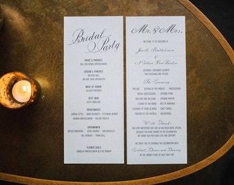 Wedding Programs Classic