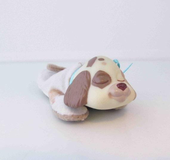 puppy surprise mini stuffed toy white beige amp tan baby puppy