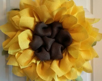 Sunflower Wreath // Front Door Wreaths // Housewarming Gift // Summer Wreath // Wedding Decor // Ladies Gift Ideas // Barn Wedding