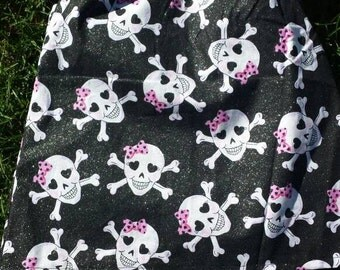 Pink skull baby girl dress, newborn dress, spring summer baby dress, infant newborn dress, Hipster Baby girl dress, Rocker Baby dress