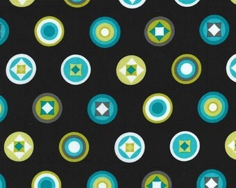 Circle Geometric Fabric -  Stand Out by Michael Miller -  CX 6644 Lagoon  - Priced by the 1/2 yard