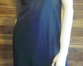 Vintage Lingerie 1960s VASSARETTE Black Size 34 A Full Slip