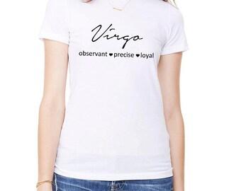 Virgo T-Shirt, Zodiac Sign T-Shirt, Ladies T-Shirt, Virgo Shirt, Gift for Virgo, Birthday Gift