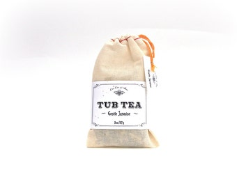 Jasmine Tub Tea ~ Bath Tea lightly scented with real Jasmine and Jasmine Flowers