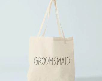 Tote Bag GROOMSMAID, wedding tote bag, groom's maid tote bag, groom's maid gift.