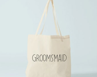 Tote bag GROOMSMAID, sac mariage, cadeau témoin homme, cadeau témoin mariage.