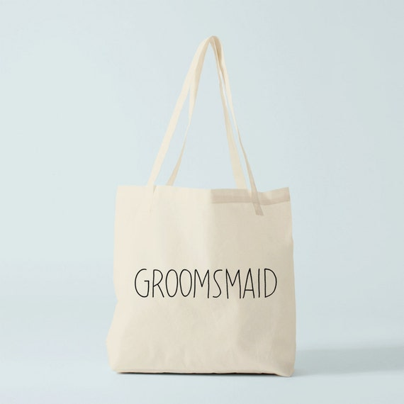 Tote Bag GROOMSMAID, wedding tote bag, groom's maid tote bag, groom's maid gift.