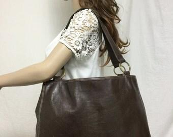 Large Brown Leather Tote, Shoulder Bag, Purse,Nine West,purses,bags
