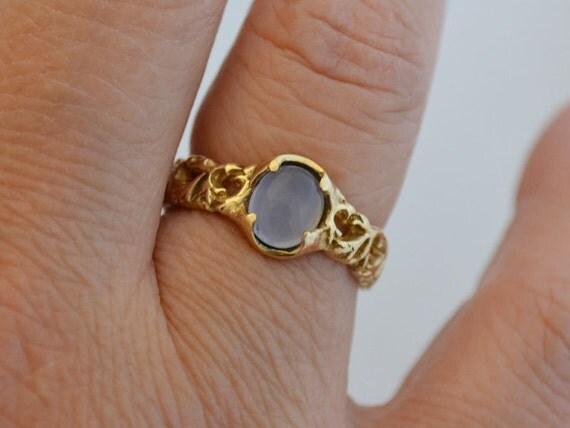 gold branch engagement ring ellensburg blue gemstone 14k