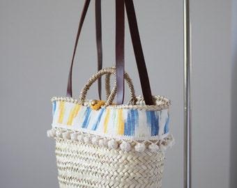 Capazo (Straw Bag) 'Menorca' size medium, handcrafted in Spain