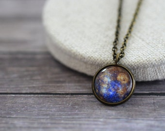 Mercury Necklace, Mercury Pendant, Purple Mercury, Mercury, Solar System Necklace, Space Necklace, Space Jewelry, Planet Pendant, Galaxy