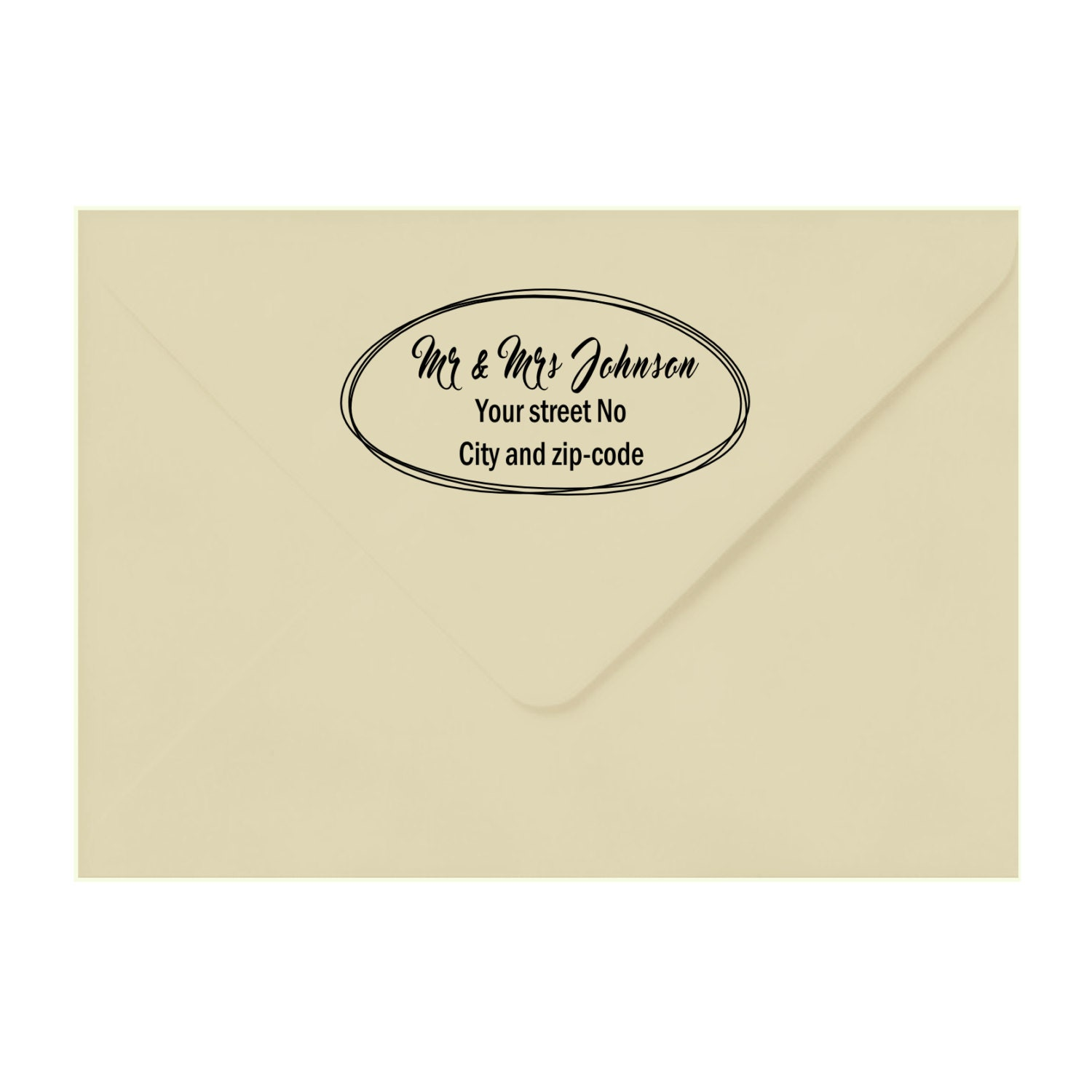 Custom Address Stamp Custom Calligraphy Stamp Return Address