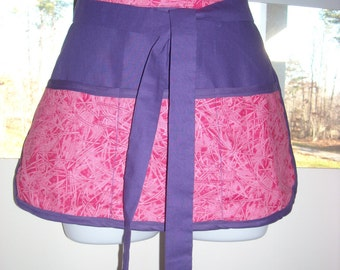 Purple and Pink Craft Apron