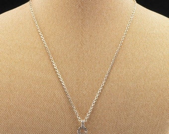 """Sterling Silver Cable CZ Necklace 18"""""""