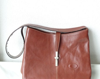 Vintage Leather Shoulder Bag, Borsegianni Shoulder Bag