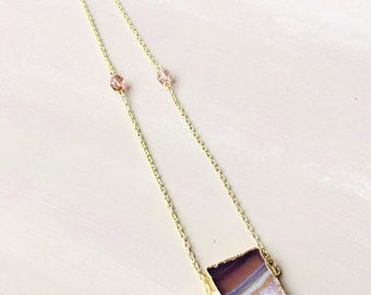 Amethyst Quartz Pendant Necklace