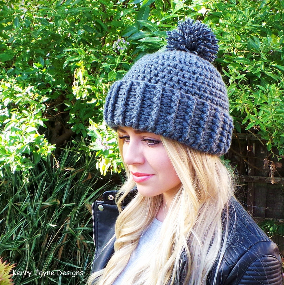 Unisex Crochet Hat Pattern Hard Rock crochet Hat Crochet