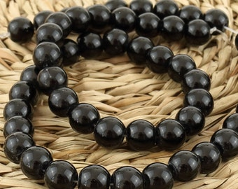6 mm Black onyx beads• Black beads • Black onyx beads • Natural onyx beads • Gemstone beads • Polished onyx beads• 6 mm black shiny beads