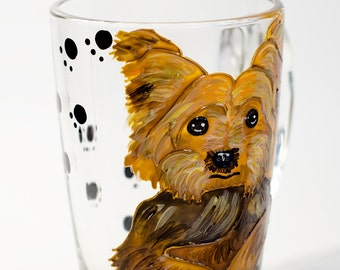 Tea cup Yorkies Coffee mug Yorkie Dog Cup Pet Portrait Mug Funny dog mug Animal mug Personalized coffee mug for dog lovers