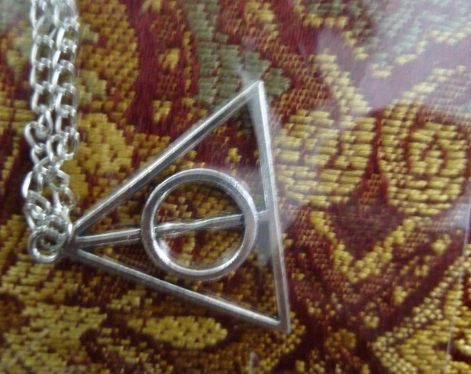 Harry Potter Deathly Hallows Inspired Necklace Crafted Lore Steampunk Fantasy Gothic Lolita Cosplay Death-eater Necklace