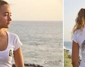 Camiseta de mujer personalizable, tortuga marina. Oceanos. Naturaleza. Buceo