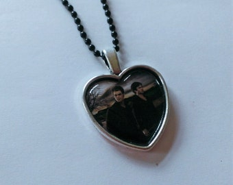 Stefan and Damon Heart Shaped Cameo Necklace