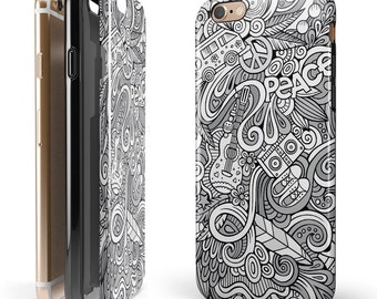 The Hippie Dippie Doodles -  iNK-Fuzed Hybrid Two-Piece iPhone Case