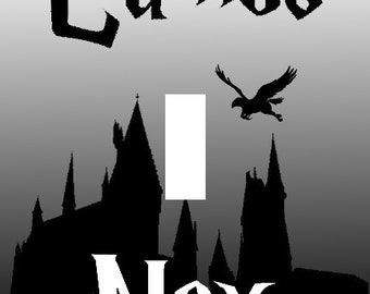 Harry Potter Lumos Nox Single Light Switch Plate Cover