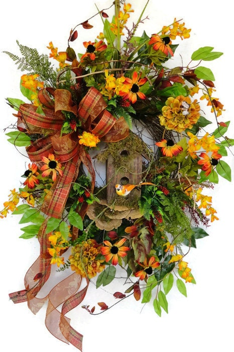 Hold for karen large fall wreath fall door wreath rustic Fall autumn door wreaths