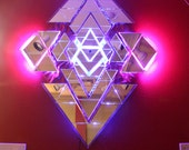 Custom medium sized sacred geometry mirror.