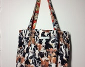 Reserved for Shayna!-  cows- large reversible and reusable shopping bag! Perfect for all your shopping needs!