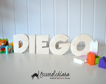 Personalized wooden name letters