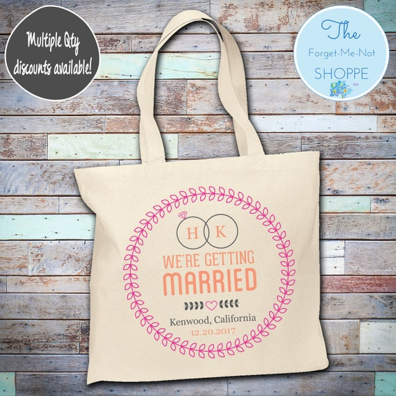 Celebration Ring Wedding Day Wedding Tote Bag ~ Bride to Be tote bag, Nautical, bachelorette ,Mother,  party tote, Wedding Favor, Gift Tote
