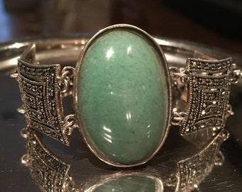 Clearance Item  Sterling Silver Vintage Large Gemstone Bracelet