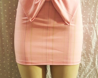 pink pencil skirt , schoolgirl skirt, pink skirt,